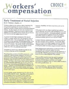 choice article pdf 232x300 - Early Treatment of Facial Injuries