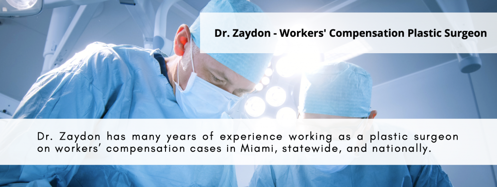 plastic surgeon workers compensation