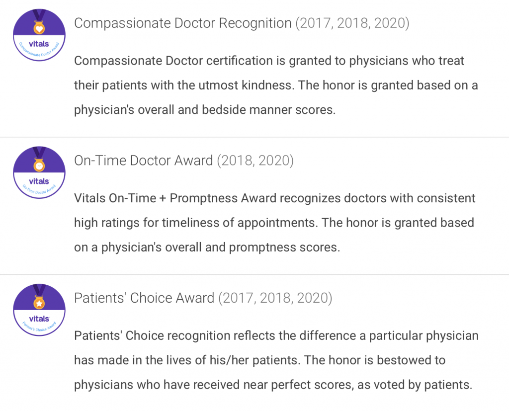 Dr Zaydon Fl awards
