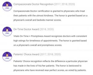 Dr Zaydon Fl awards