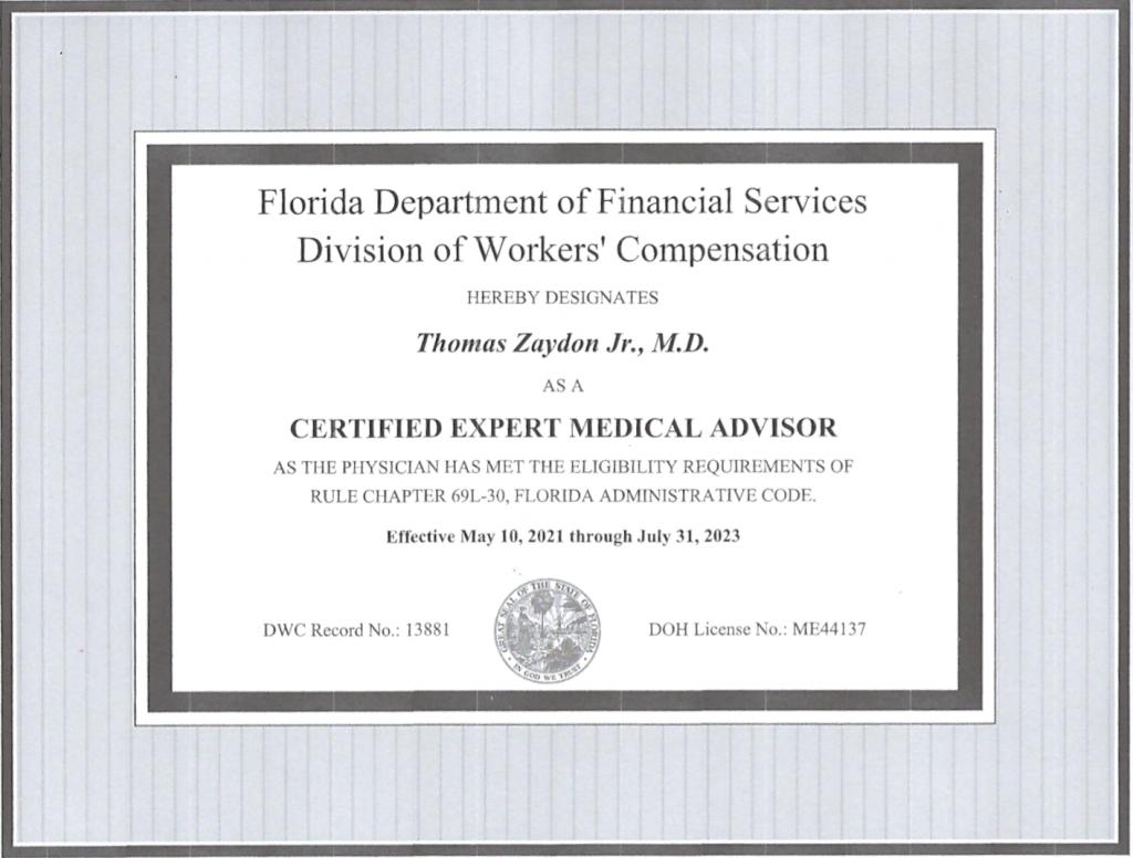 expert medical advisor miami fl